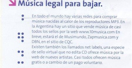 ¿música legal? ¿y cual es la música ilegal?