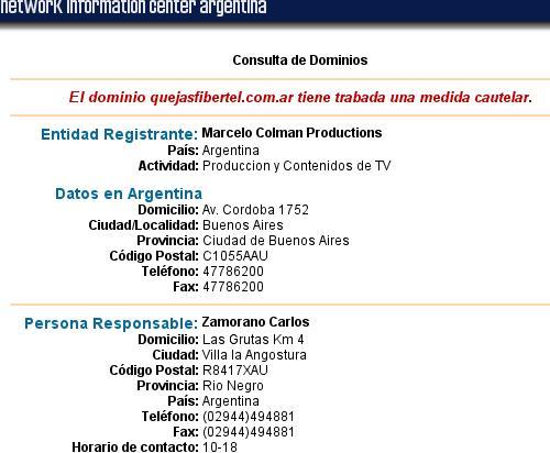 Quejasfibertel.com.ar