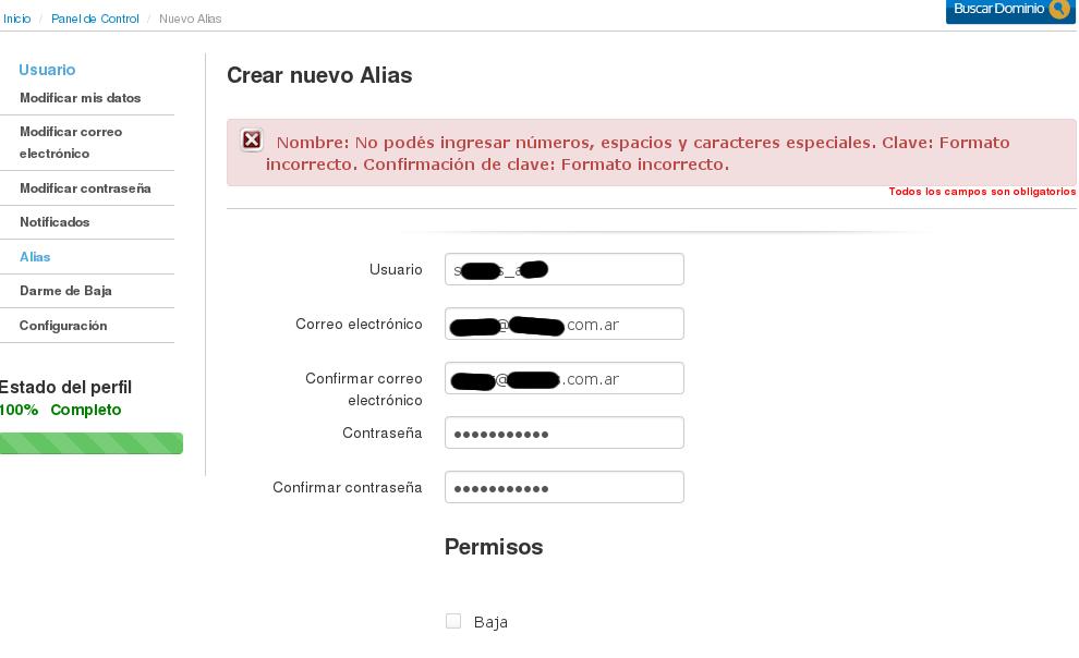 NIC Argentina - Registro de Usuario - alta de alias2