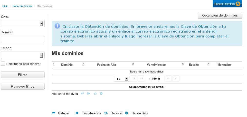 NIC Argentina - Registro de Usuario - obtenerdominiosviejos