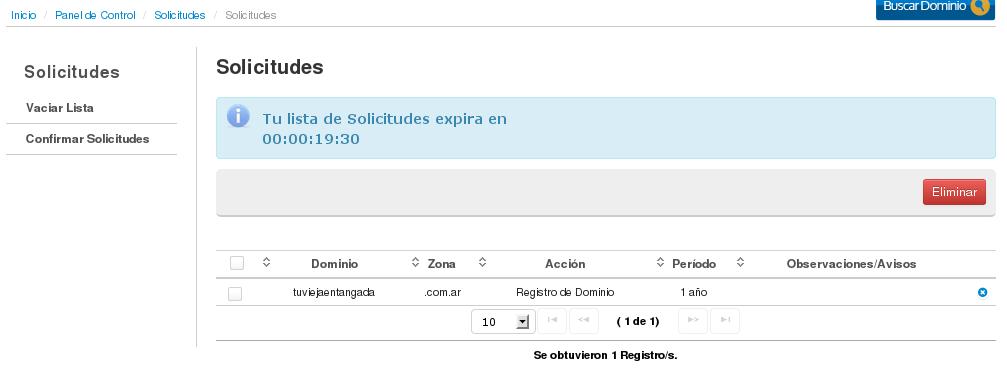 NIC Argentina - Registro de Usuario - registrodedominio